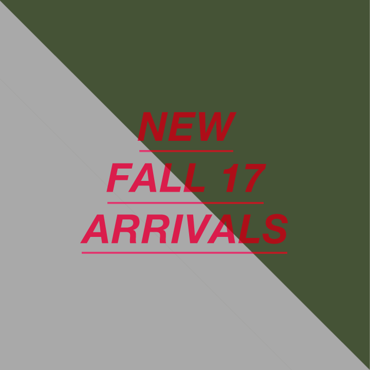 New Fall Arrivals 2017