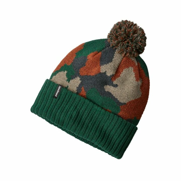 Patagonia Powder Town Beanie Bunker Camo: Micro Green - monkshop