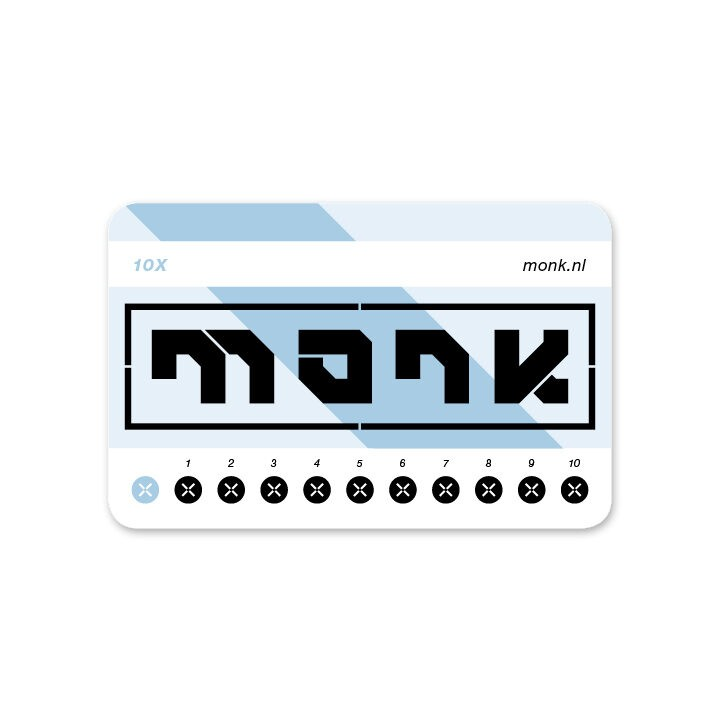 Monk Ticket Strippenkaart Normaal - Monkshop