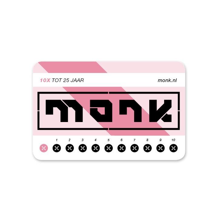 Monk Ticket Strippenkaart Tot 25 - Monkshop