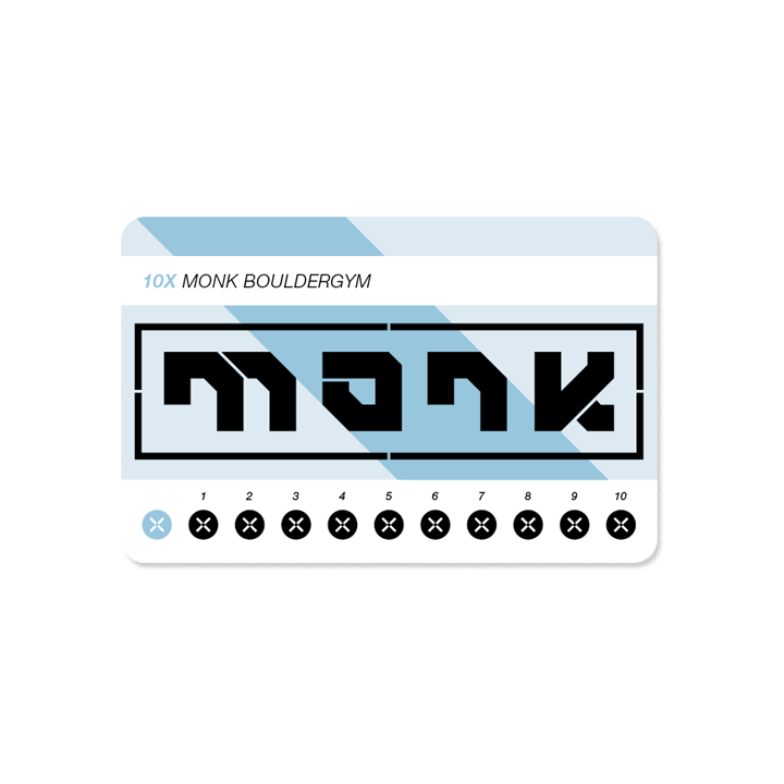 Monk bouldergym strippenkaart normaal