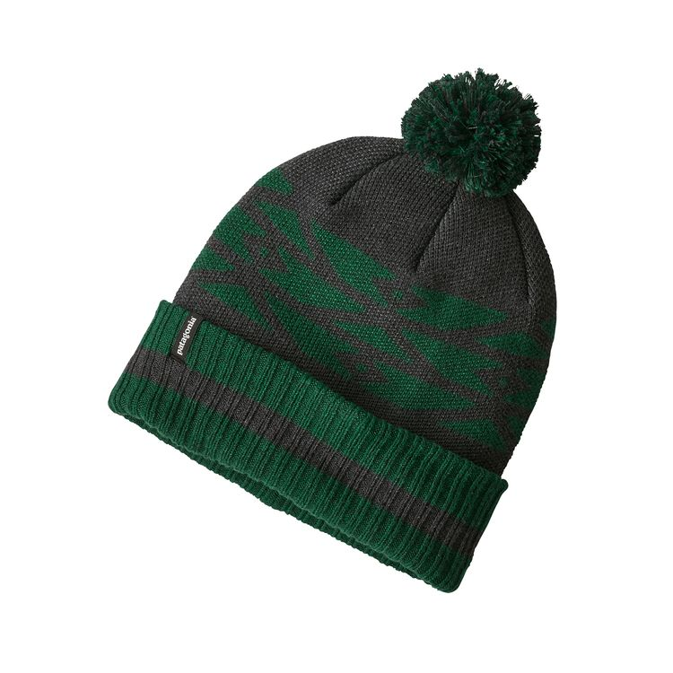 Patagonia Powder Town Beanie Geo Site: Micro Green - monkshop