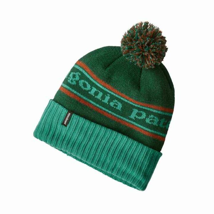 Patagonia Powder Town Beanie Park Stripe: Beryl Green - monkshop