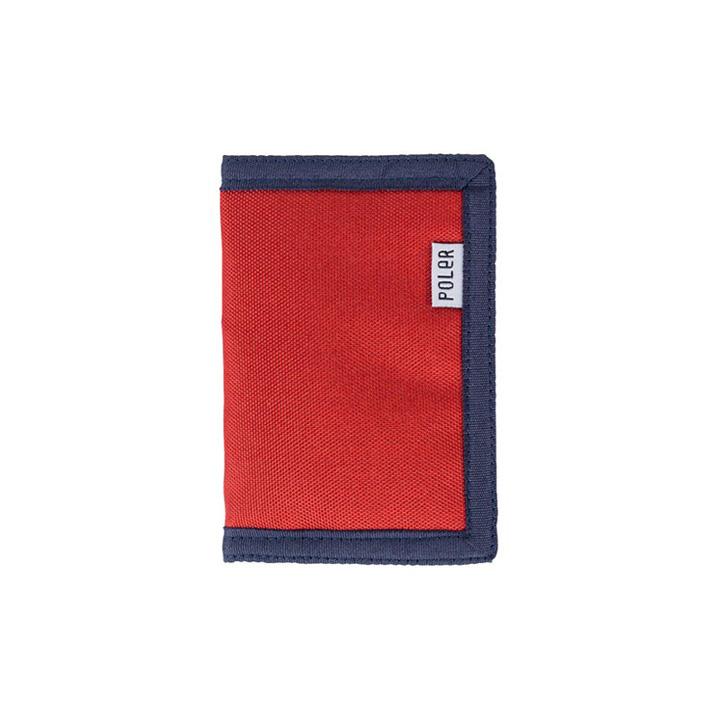 Poler Tri-Fold Wallet mud red