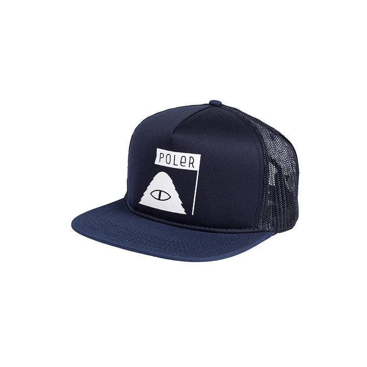 Poler Summit Trucker Hat - Navy Blue