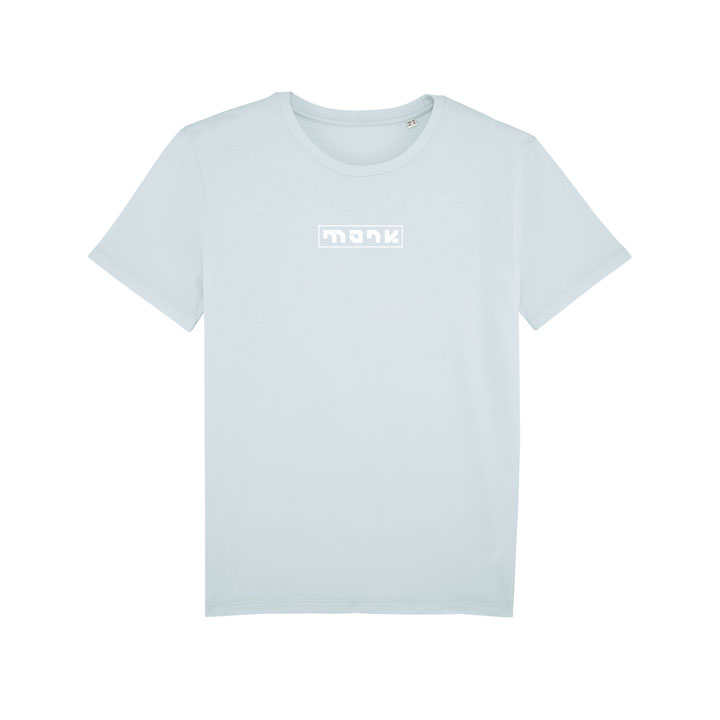 monk logo tee baby blue - monkshop