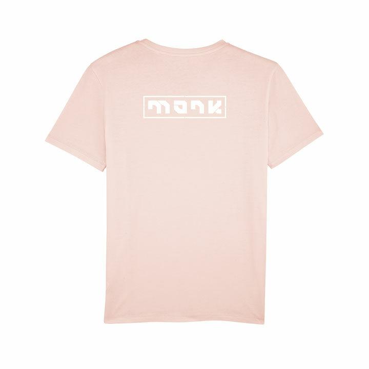 monk logo tee candy pink - monkshop