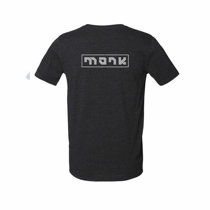 monk logo tee heather black denim - monkshop