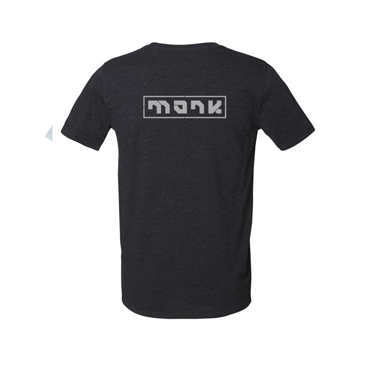 monk logo tee heather black denim - monkshop