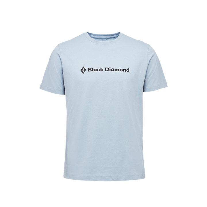 Black Diamond SS Brand Tee Stone Blue - monkshop