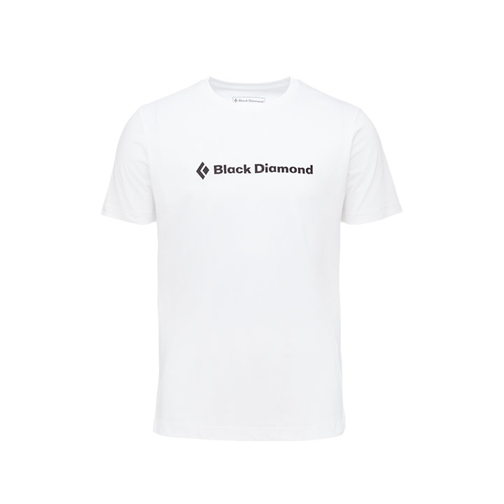 Black Diamond SS Brand Tee White - monkshop