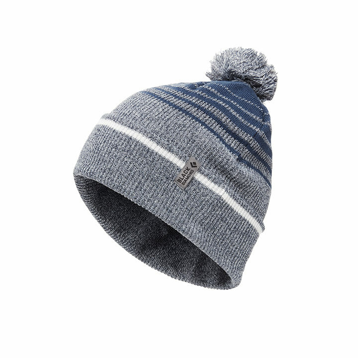 Black Diamond Pom Beanie Inkblue White - Monkshop