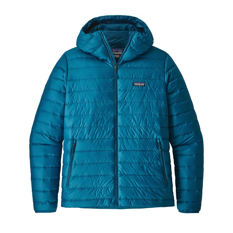 Patagonia Down Sweater Hoody Balkan Blue - monkshop