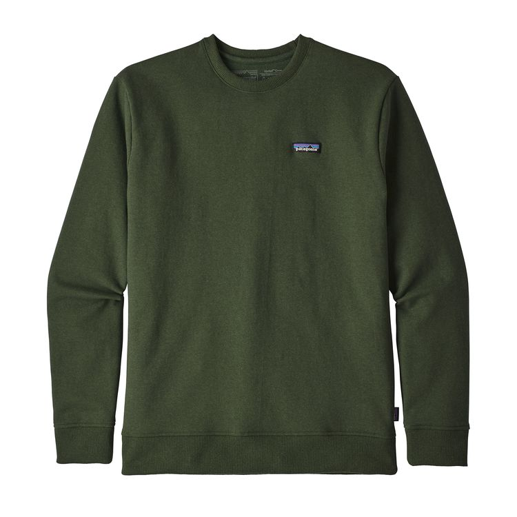 Patagonia P-6 Label Uprisal Crew Sweatshirt Nomad Green - monkshop