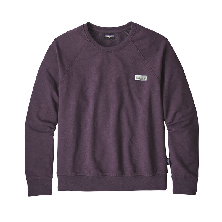 Patagonia Pastel P-6 Label Ahnya Crew Sweatshirt Piton Purple Dames - monkshop