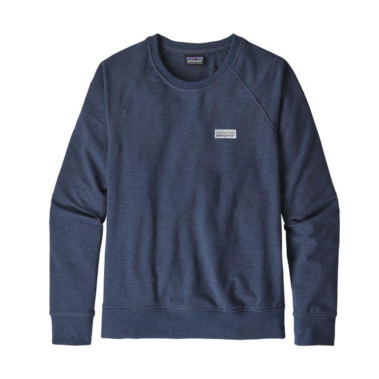 Patagonia Pastel P-6 Label Ahnya Crew Sweatshirt Stone Blue