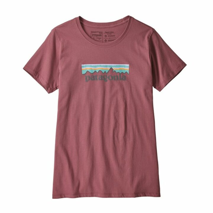 Patagonia Pastel P-6 Logo Cotton Crew T-Shirt Kiln Pink - monkshop