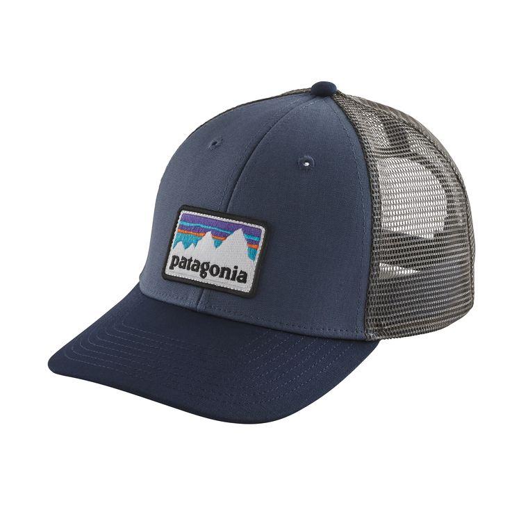 Patagonia Shop Sticker Patch Lopro Trucker Hat Dolomite Blue - monkshop
