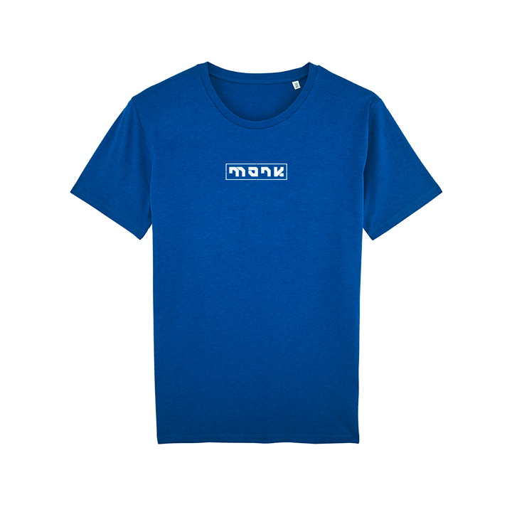 Monk Logo T-shirt Mid Heather Royal Blue - Monkshop