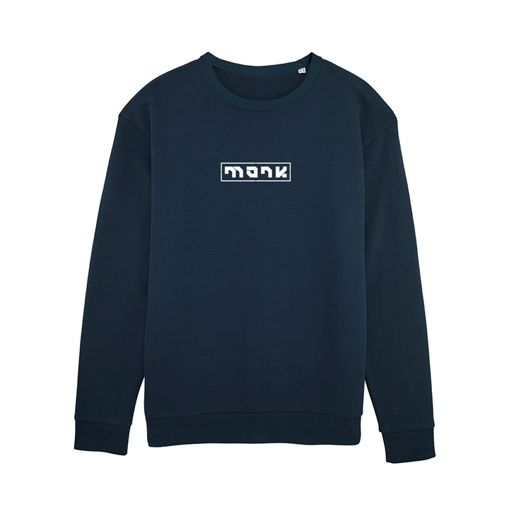Monk Logo Unisex Trui Relaxed Fit French Navy - Monkshop