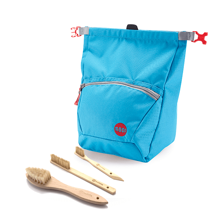 Moon Boulderpofzak Blue Jewel + Borstelset Combideal - Monkshop