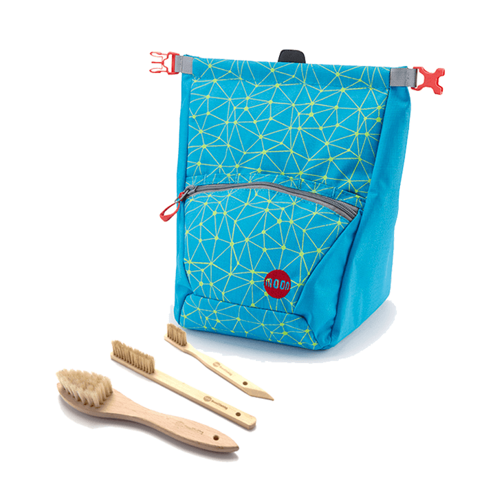 Moon Boulderpofzak Galaxy Blue/Punch + Borstelset Combideal - Monkshop