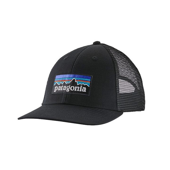 Patagonia P-6 Logo LoPro Trucker Pet Black - Monkshop
