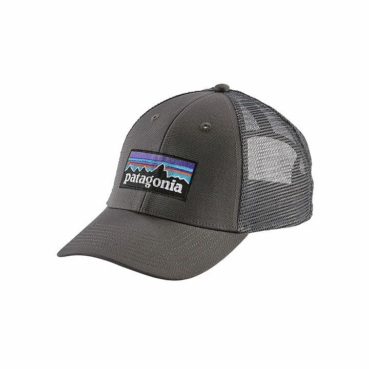 Patagonia P-6 Logo LoPro Trucker Pet Forge Grey With Forge Grey - Monkshop
