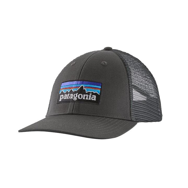 Patagonia P-6 Logo LoPro Trucker Pet Forge Grey - Monkshop