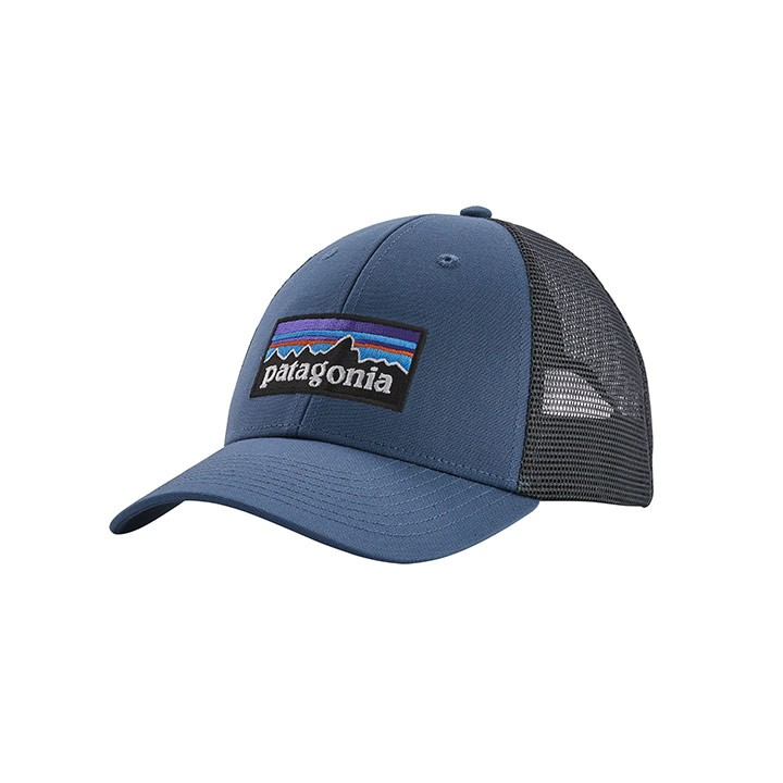 Patagonia P-6 Logo LoPro Trucker Pet Woolly Blue - Monkshop