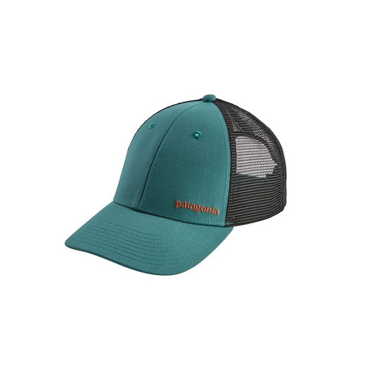 Patagonia Small Text Logo LoPro Trucker Pet Tasmanian Teal - Monkshop