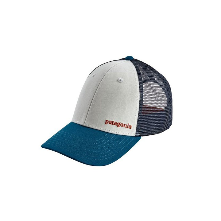 Patagonia Small Text Logo LoPro Trucker Pet White - Monkshop