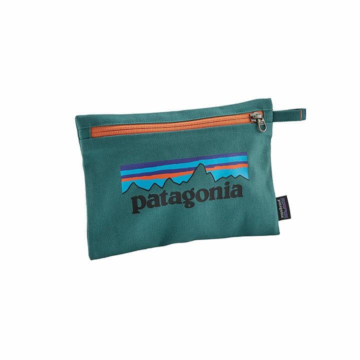 Patagonia Zippered Pouch P-6 Logo Tasmanian Teal - Monkshop