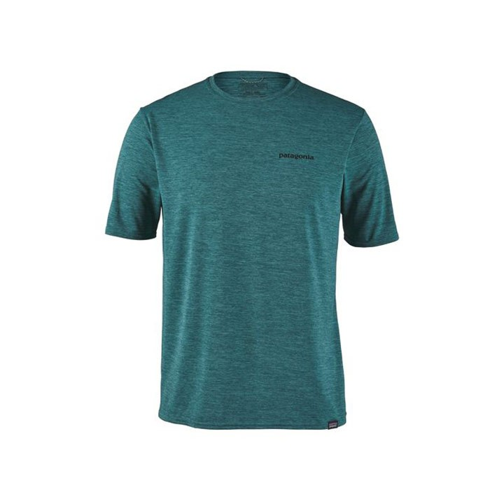 Patagonia Cap Cool Daily Graphic T-shirt Heren P-6 Logo Tasmanian Teal - Monkshop