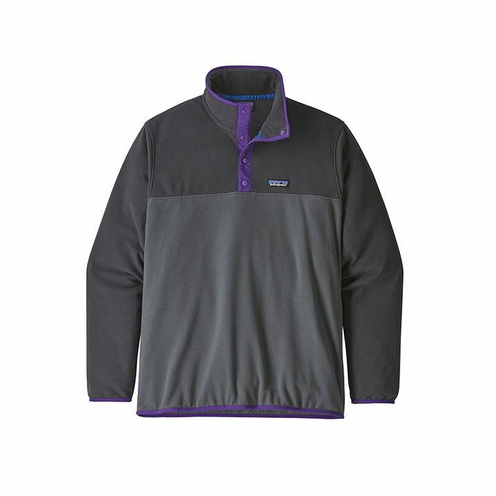 Patagonia Micro D Snap-T Pullover Heren Forge Grey - Monkshop