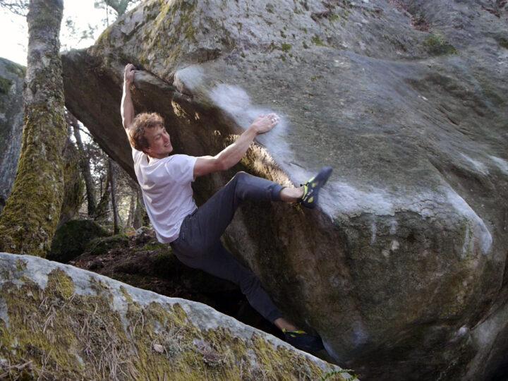 Buiten boulderen met Bruno in Bleau