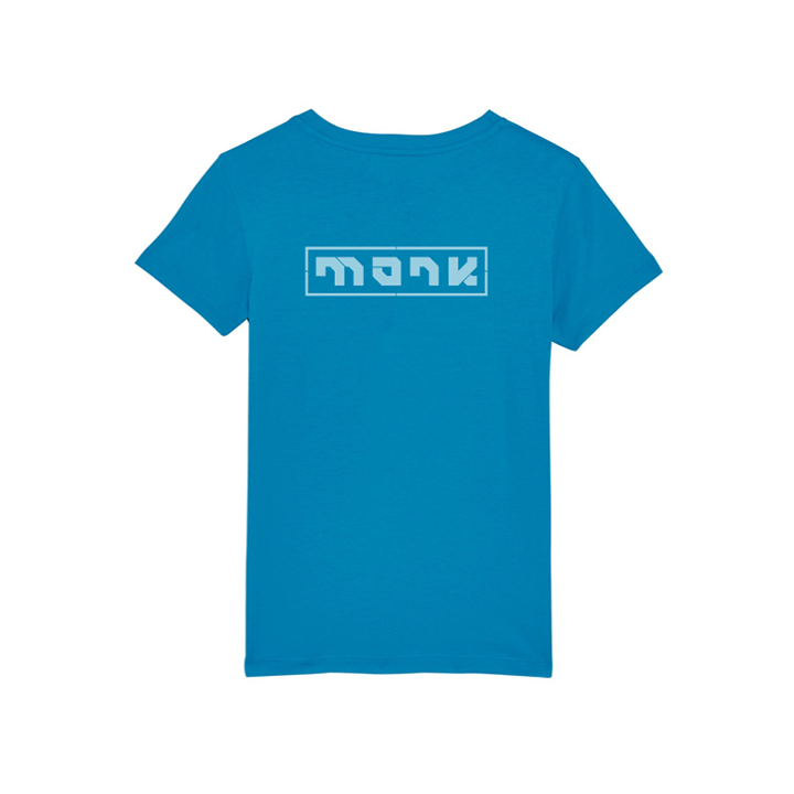 Monk Logo Kinder T-Shirt Azur - Monkshop