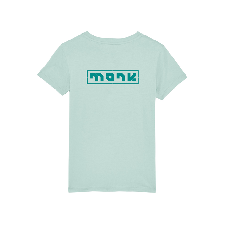 Monk Logo Kinder T-shirt Caribbean Blue - Monkshop