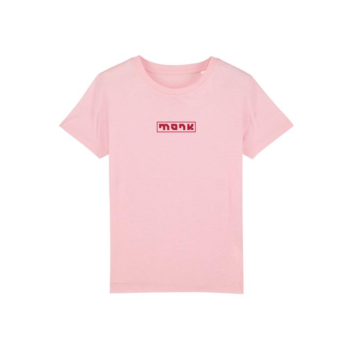 Monk Logo Kinder T-shirt Cotton Pink - Monkshop