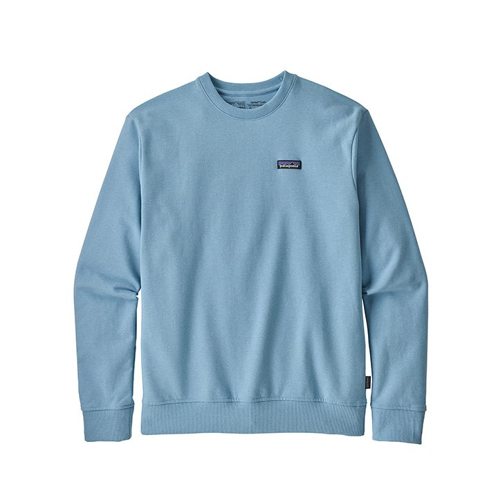 Patagonia P-6 Label Uprisal Crew Sweatshirt Break Up Blue - Monkshop