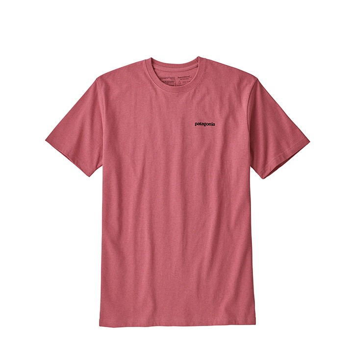 Patagonia P-6 Logo Responsibili-Tee T-Shirt Sticker Pink - Monkshop