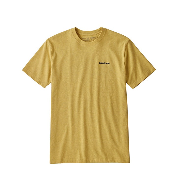 Patagonia P-6 Logo Responsibili-Tee T-Shirt Surfboard Yellow - Monkshop