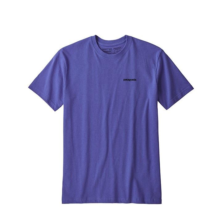 Patagonia P-6 Logo Responsibili-Tee T-Shirt Violet Blue - Monkshop