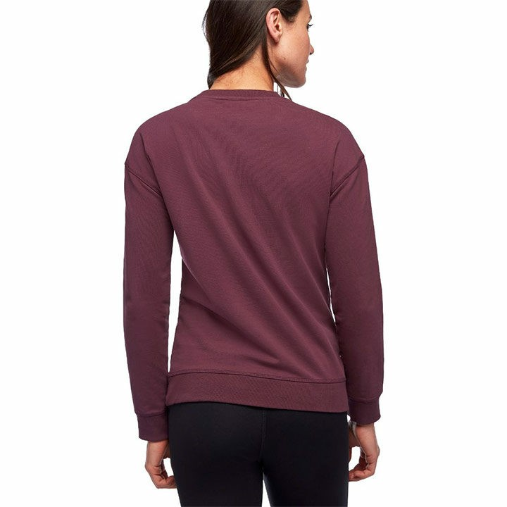 Black Diamond Basis Dames Crew Trui Plum - Monkshop