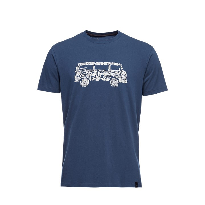 Black Diamond Vantastic Heren T-shirt Ink Blue - Monkshop