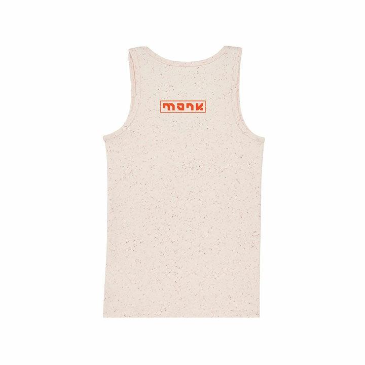 Monk Logo Dames Hemd Ecru Neppy Mandarine - Monkshop