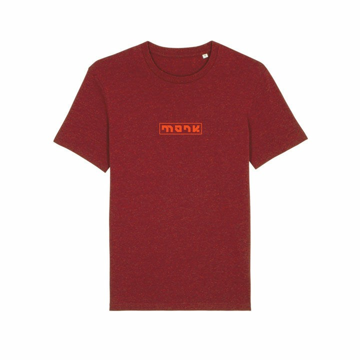 Monk Logo Unisex T-Shirt Neppy Burgundy - Monkshop