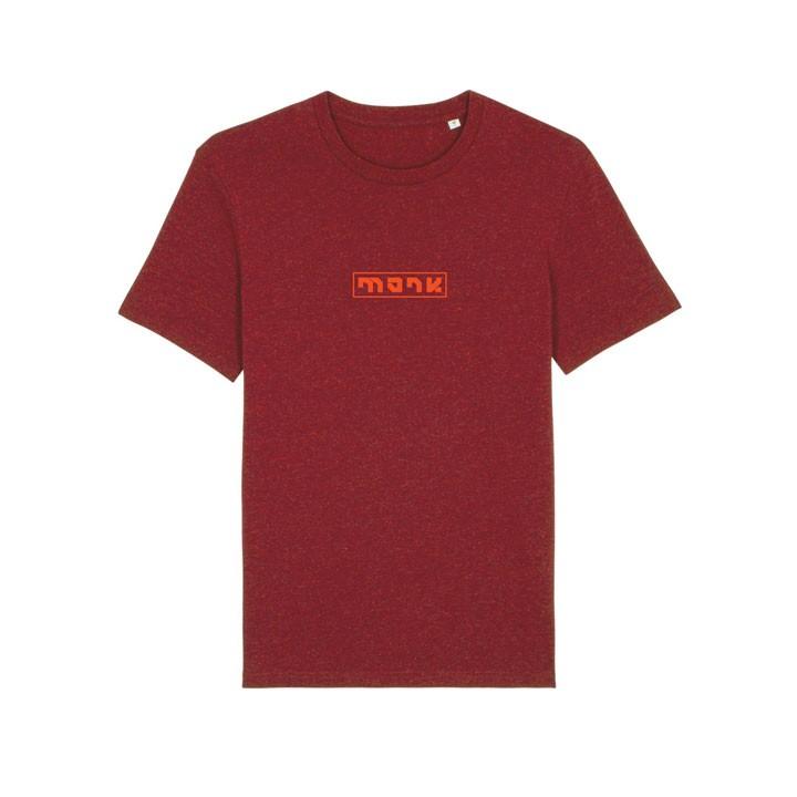 Monk Logo Unisex T-Shirt Neppy Burgundy - Monkshop