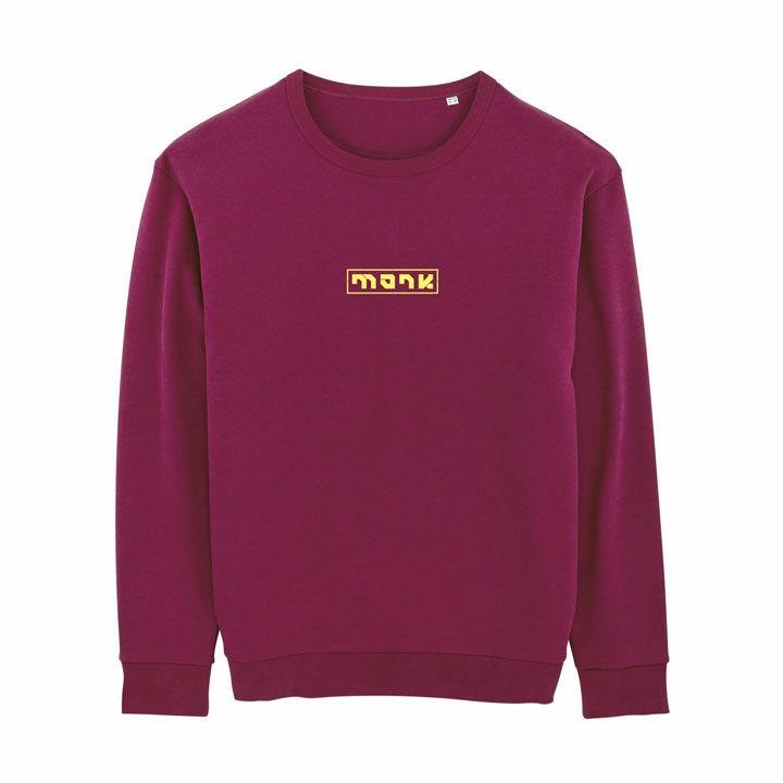 Monk Logo Unisex Trui Relaxed Fit Purple Led - Monkshop