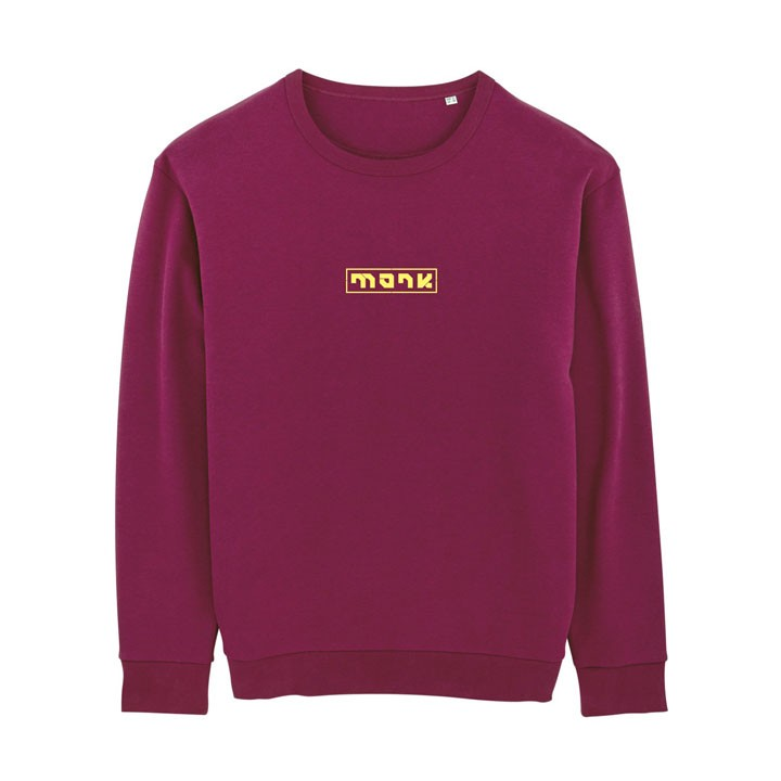 Monk Logo Unisex Trui Relaxed Fit Purple Led - Monkshop